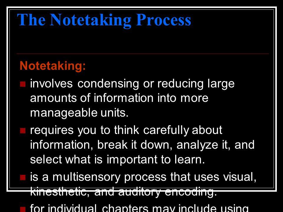 The Notetaking Process