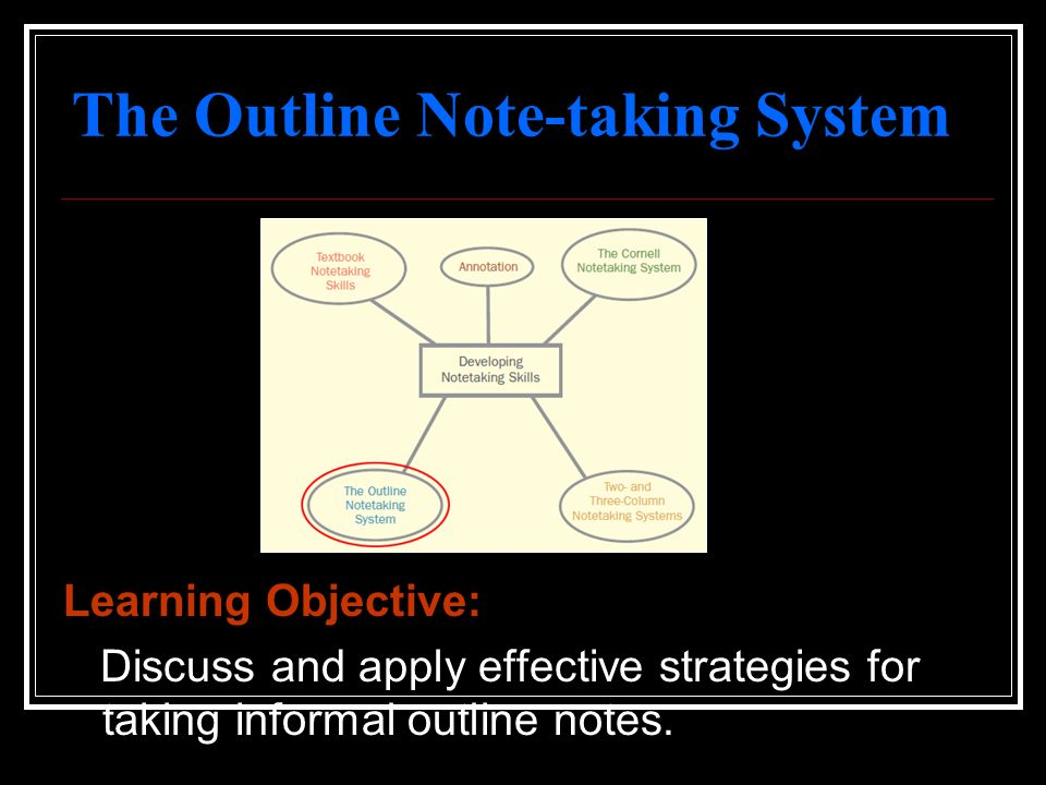 The Outline Note-taking System