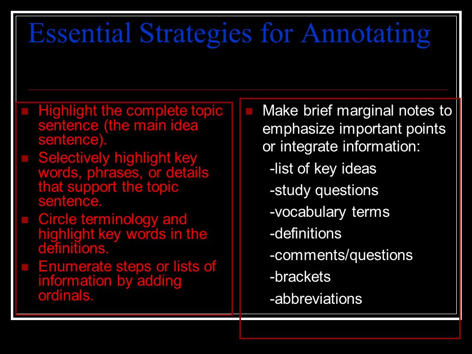 Essential Strategies for Annotating