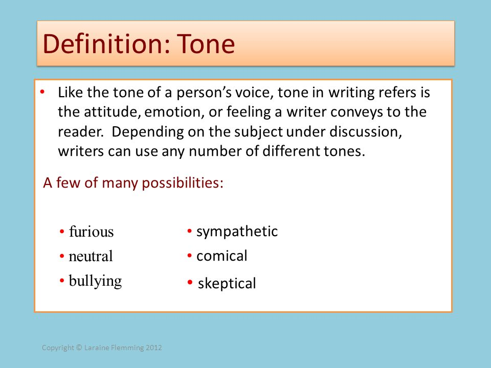 Definition: Tone skeptical