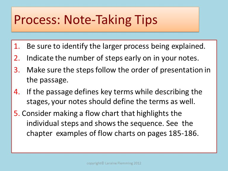 Process: Note-Taking Tips