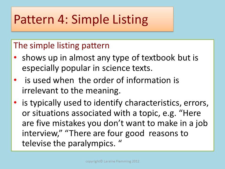 Pattern 4: Simple Listing