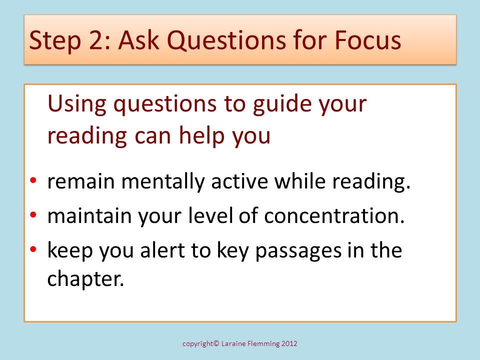 Step 2: Ask Questions for Focus