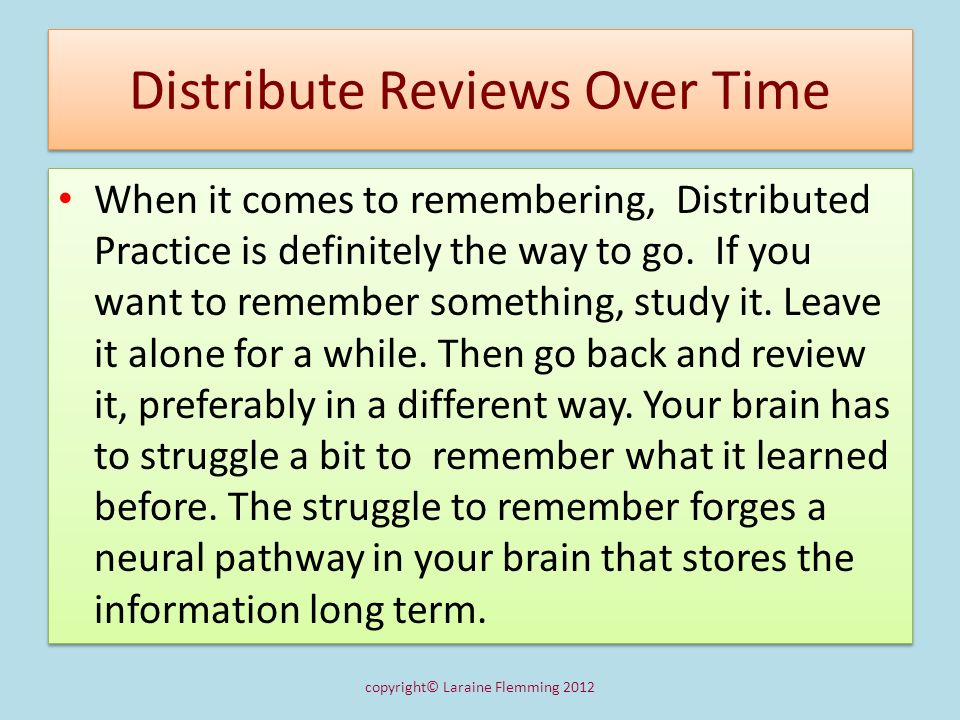 Distribute Reviews Over Time