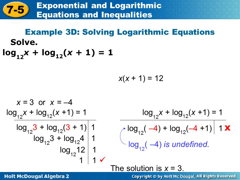 Solve Log Problems Online