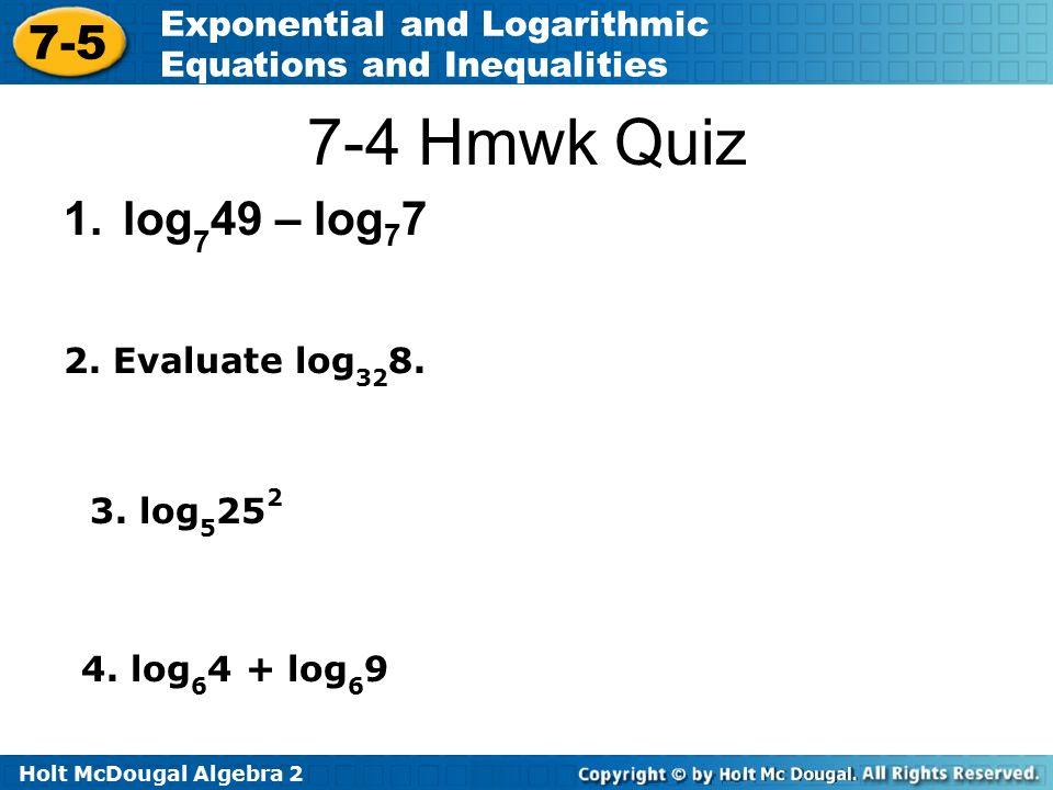 algebra 2 worksheet section 7 5 solving exponential and log equations 3 tessshebaylo. Black Bedroom Furniture Sets. Home Design Ideas