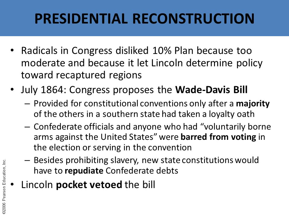A look at the reconstruction self destruction after the civil war