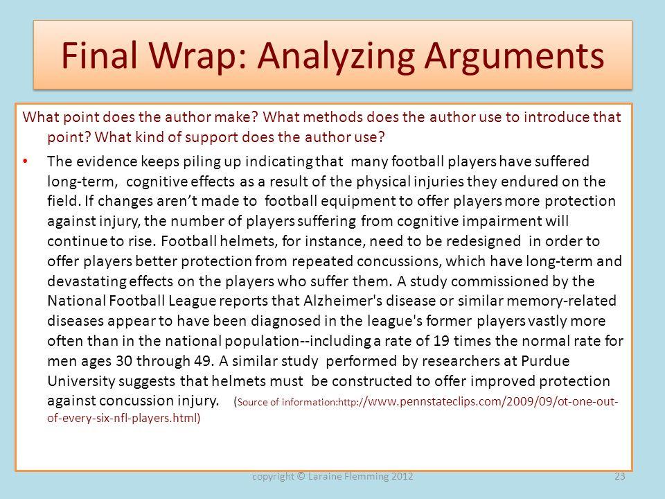 Final Wrap: Analyzing Arguments