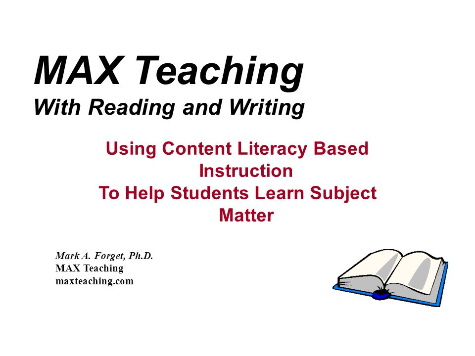 To Help Students Learn Subject Matter
