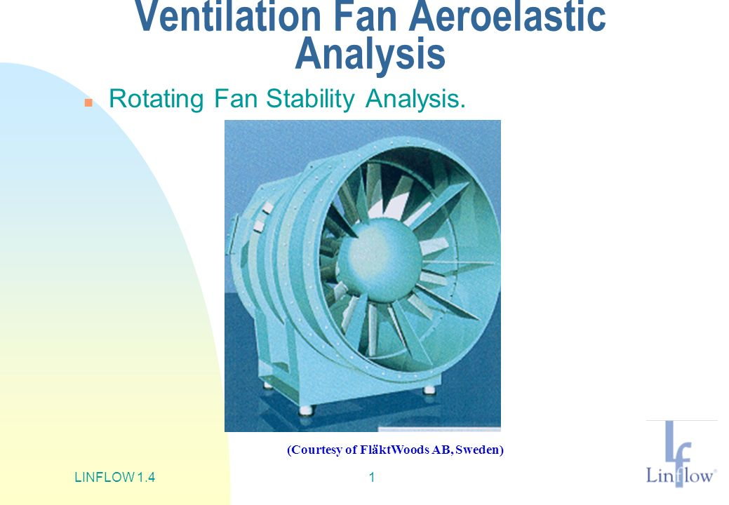 Ventilation Fan Aeroelastic Analysis