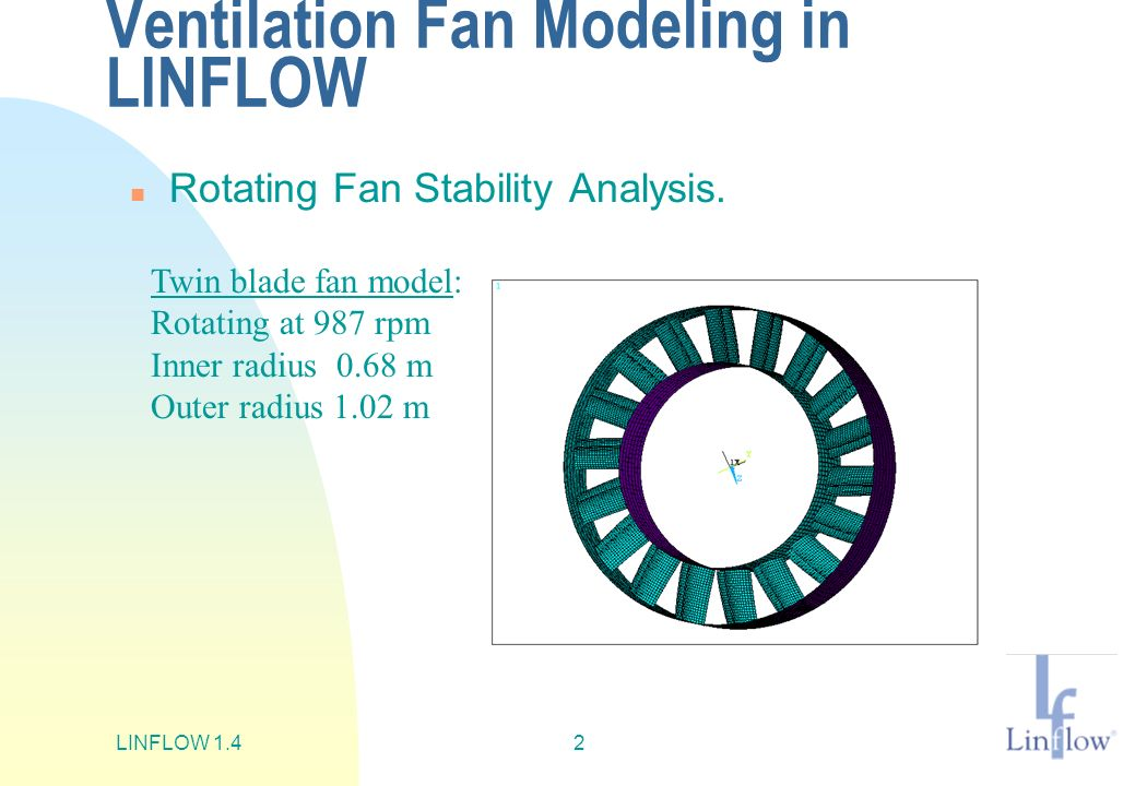 Ventilation Fan Modeling in LINFLOW