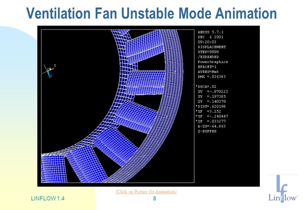 Ventilation Fan Unstable Mode Animation