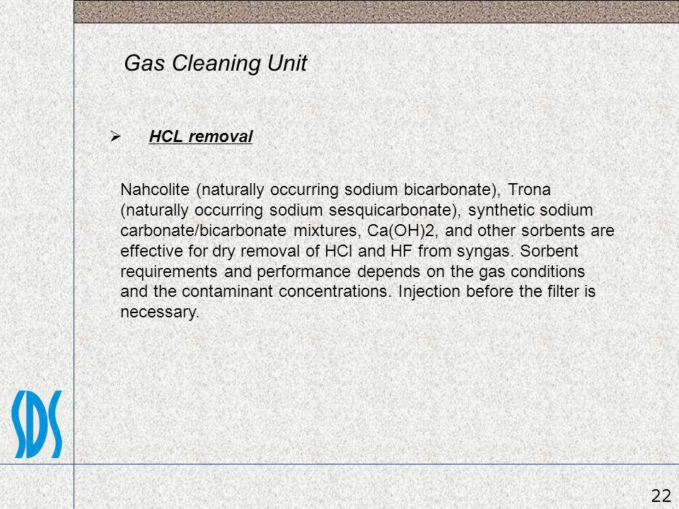 Gas Cleaning Unit HCL removal