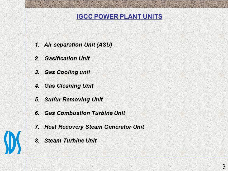 IGCC POWER PLANT UNITS 1. Air separation Unit (ASU)
