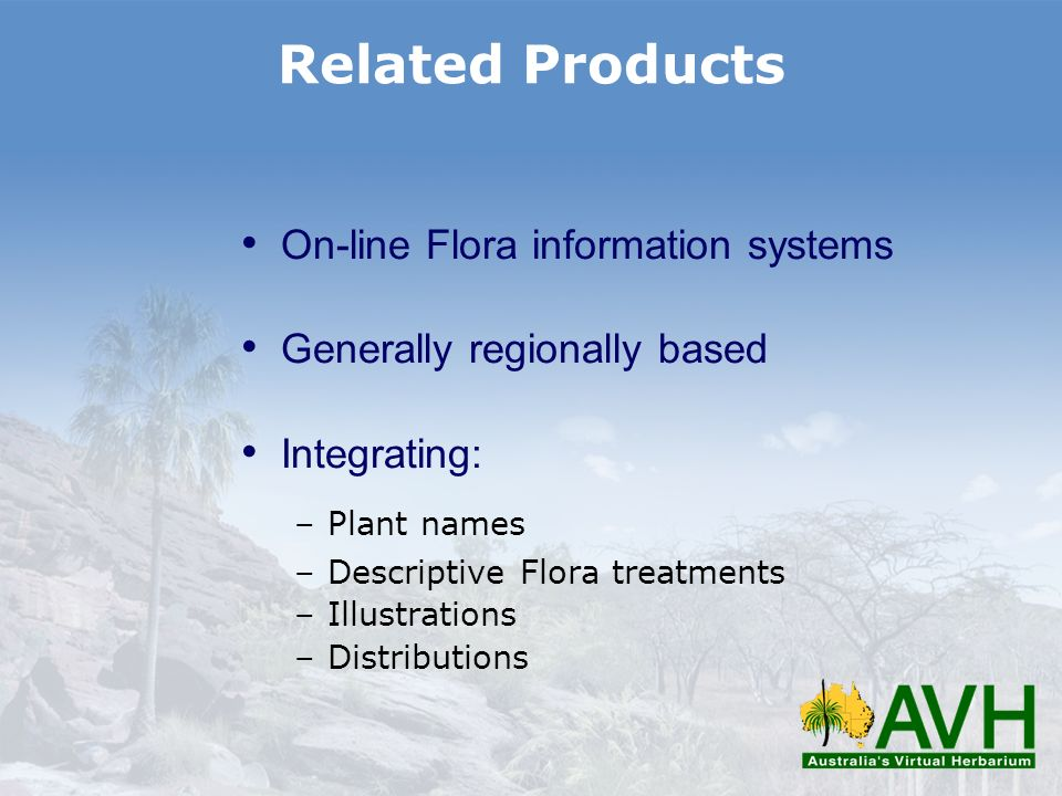 Related Products On-line Flora information systems