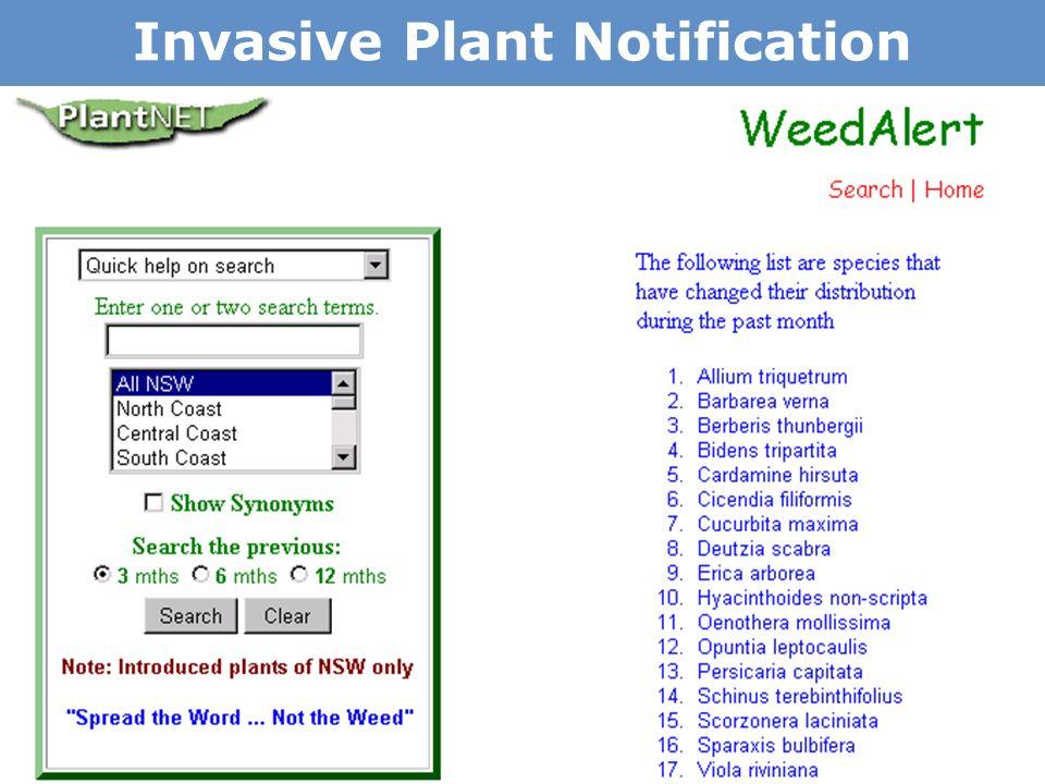 Invasive Plant Notification