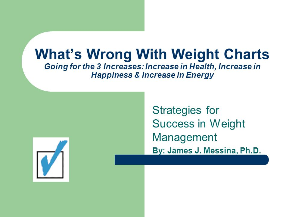 What's Wrong With Weight Charts Going for the 3 Increases: Increase in Health, Increase in Happiness & Increase in Energy