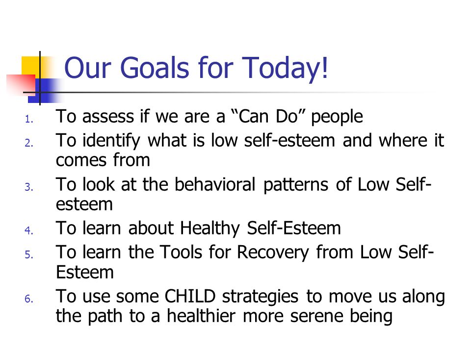 Our Goals for Today! To assess if we are a Can Do people