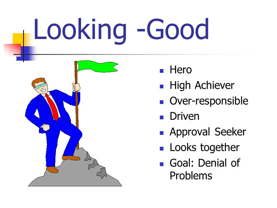 Looking -Good Hero High Achiever Over-responsible Driven