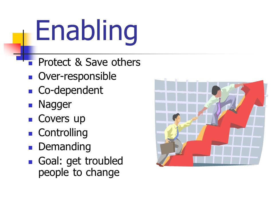 Enabling Protect & Save others Over-responsible Co-dependent Nagger