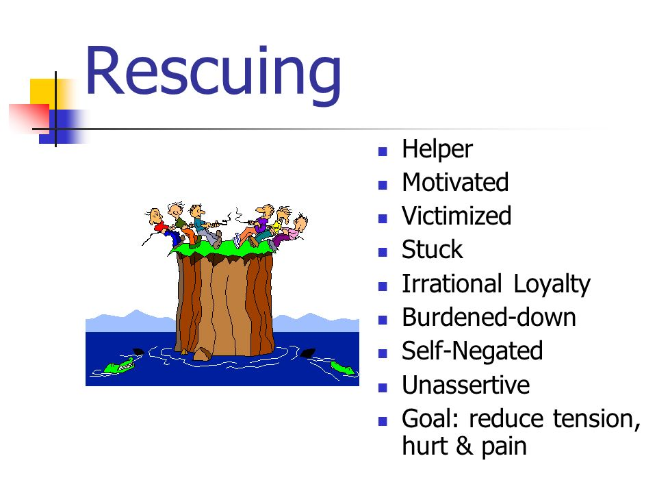 Rescuing Helper Motivated Victimized Stuck Irrational Loyalty