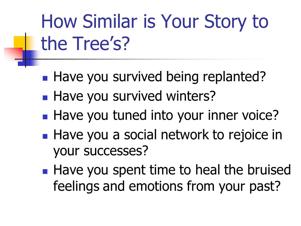 How Similar is Your Story to the Tree's