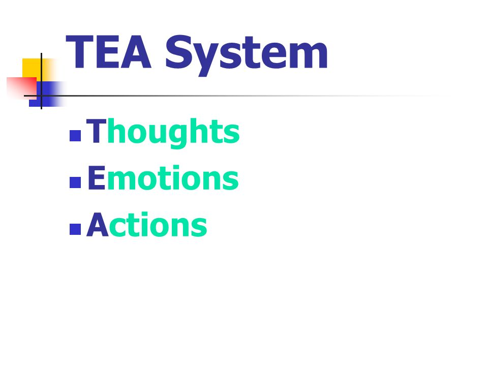 TEA System Thoughts Emotions Actions