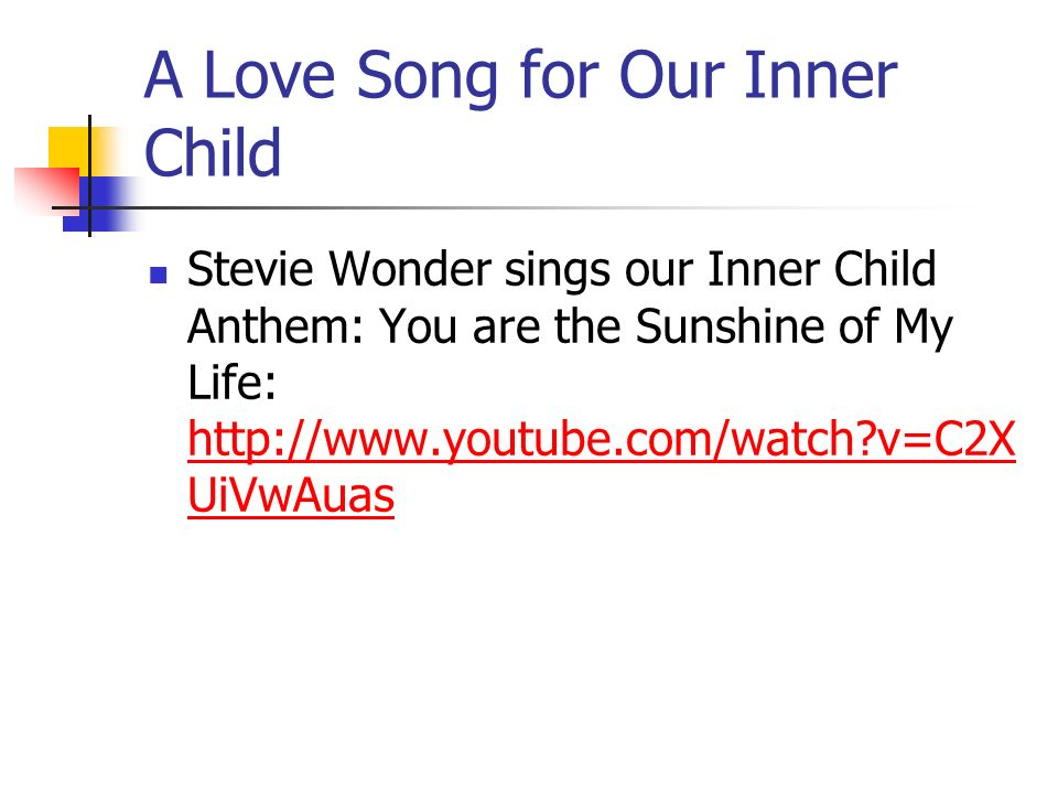 A Love Song for Our Inner Child