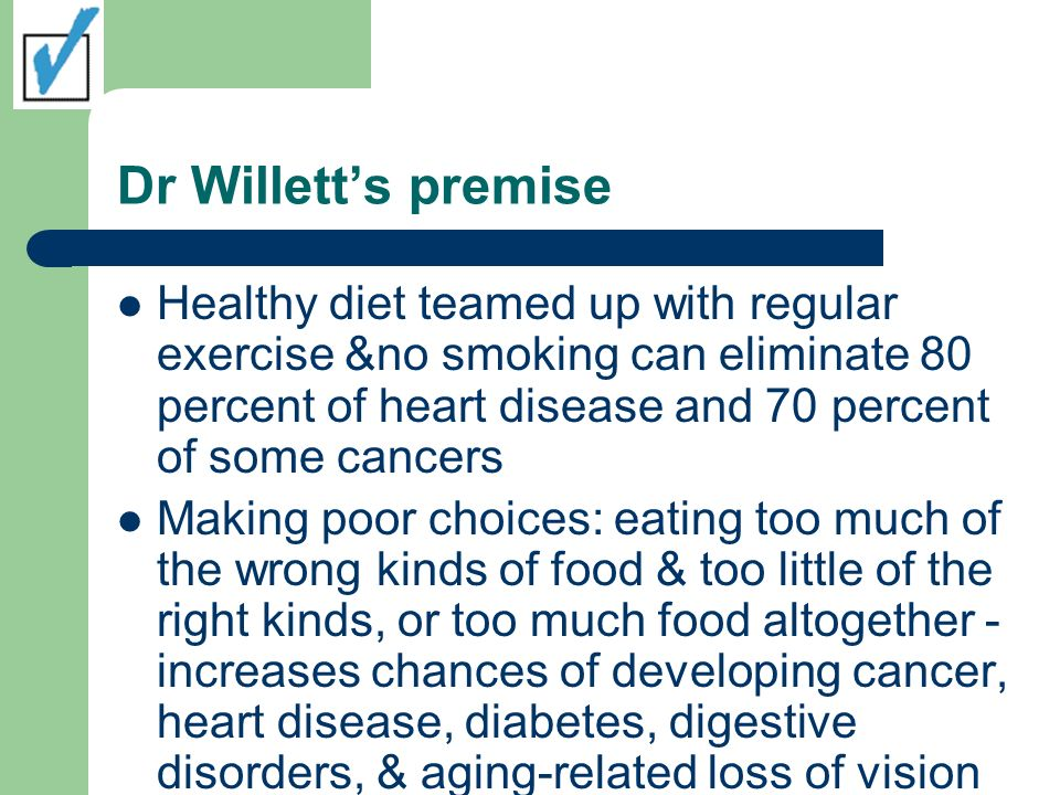 Dr Willett's premise