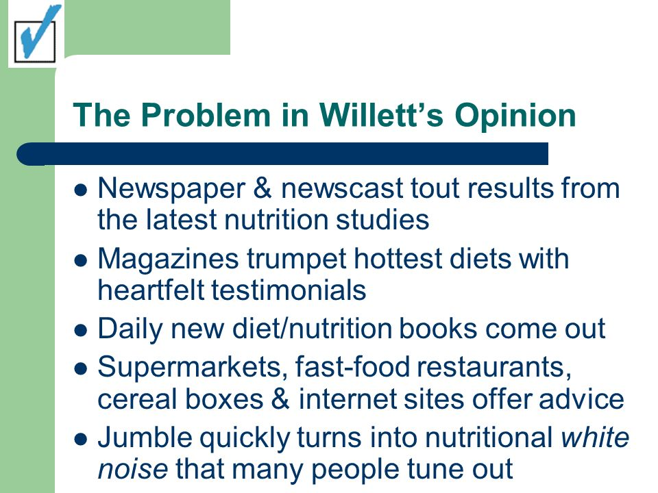 The Problem in Willett's Opinion