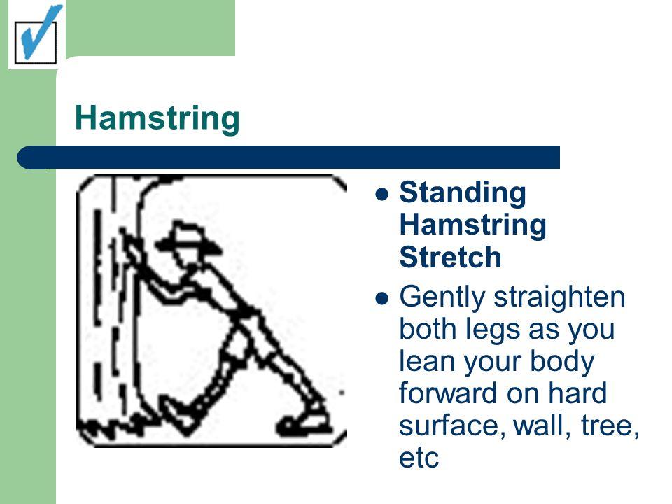 Hamstring Standing Hamstring Stretch