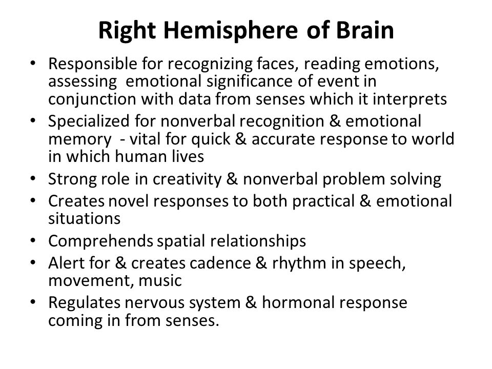 Right Hemisphere of Brain