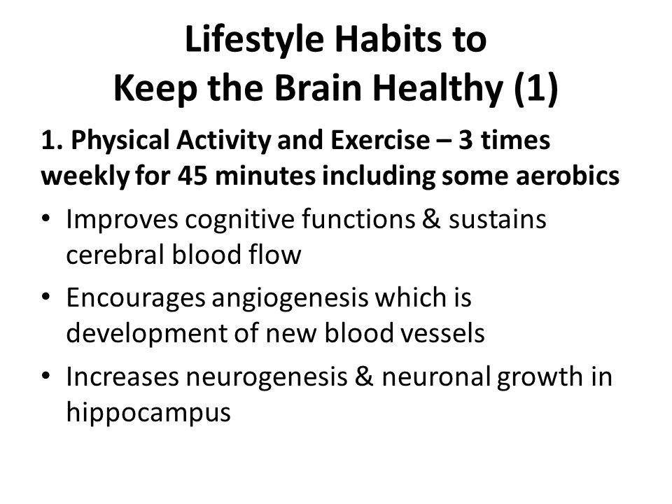 Lifestyle Habits to Keep the Brain Healthy (1)