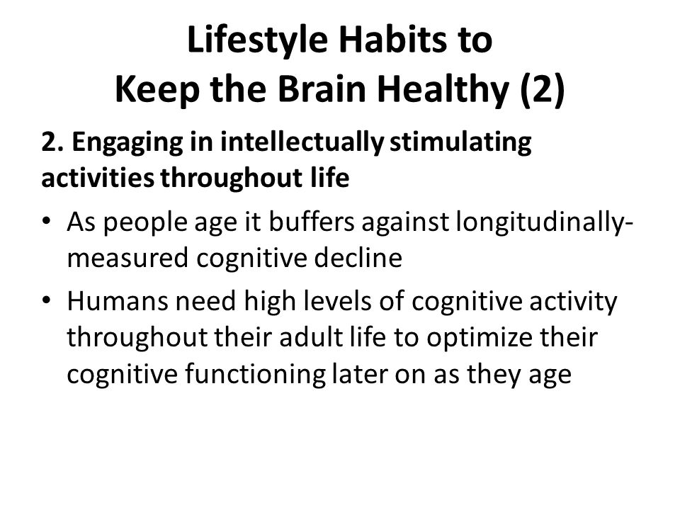 Lifestyle Habits to Keep the Brain Healthy (2)