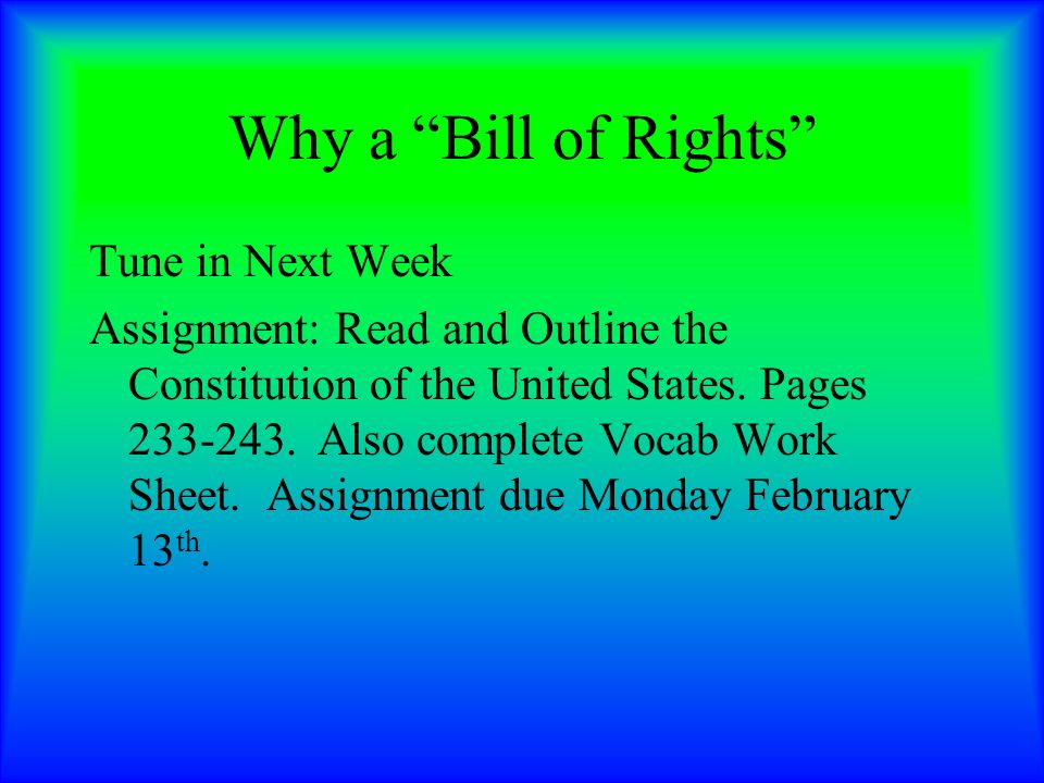 Assignment on constitution