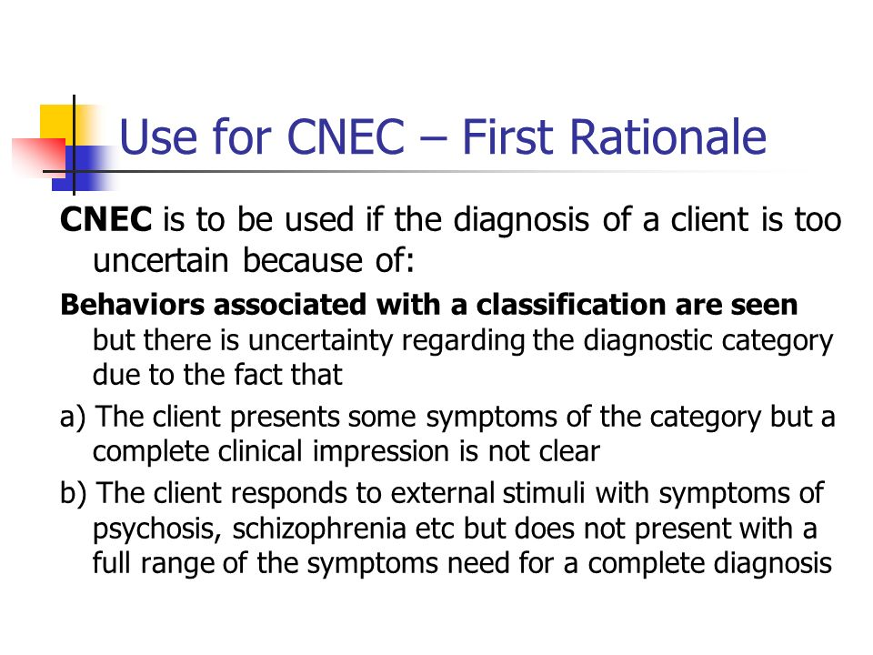 Use for CNEC – First Rationale