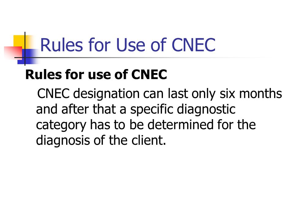 Rules for Use of CNEC