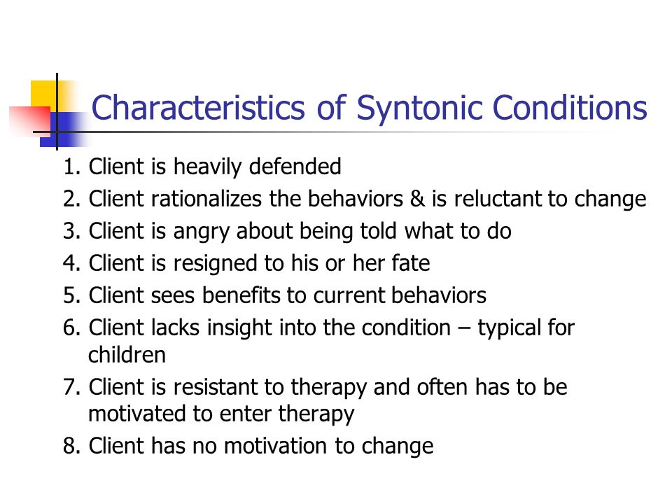 Characteristics of Syntonic Conditions