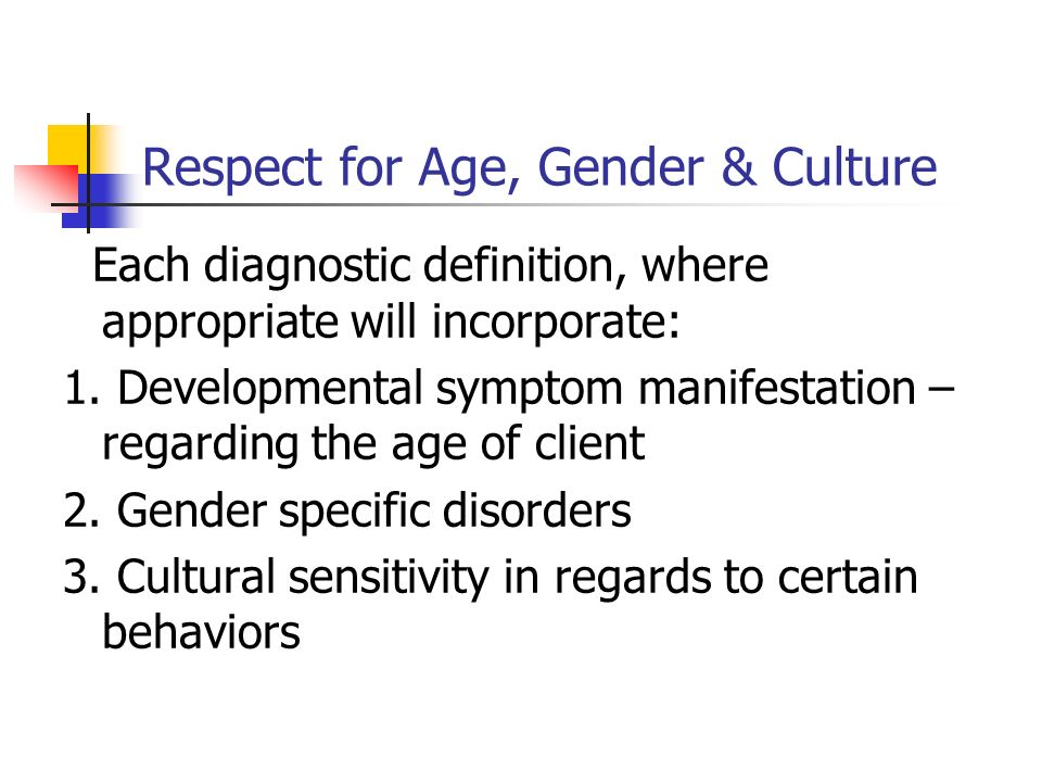 Respect for Age, Gender & Culture