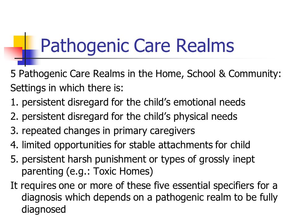 Pathogenic Care Realms