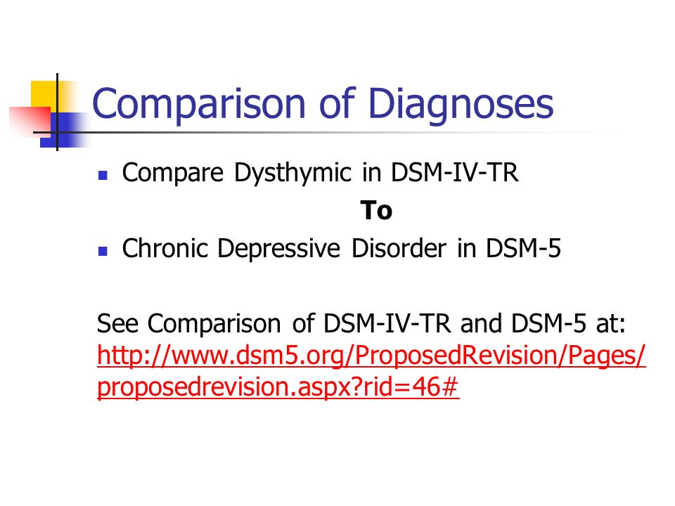Comparison of Diagnoses