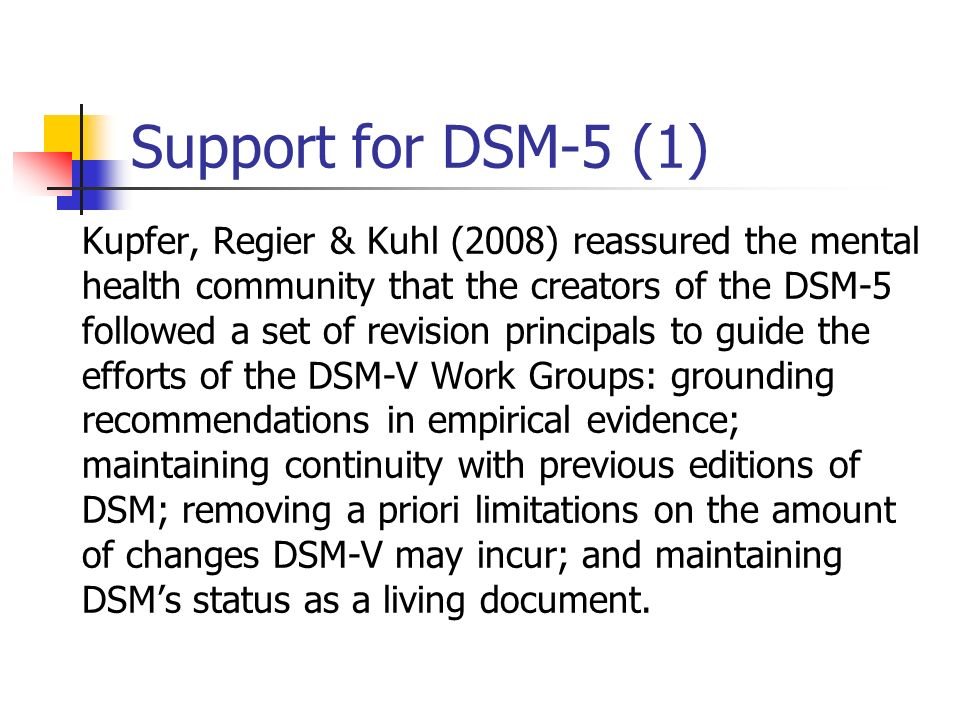 Support for DSM-5 (1)