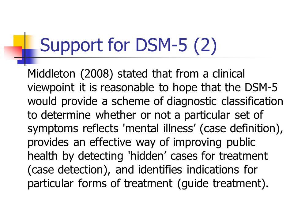 Support for DSM-5 (2)