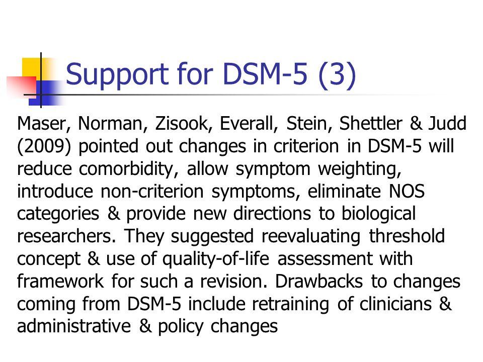 Support for DSM-5 (3)
