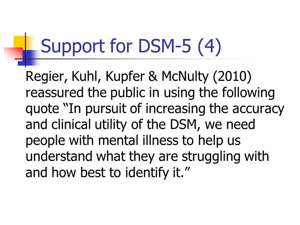 Support for DSM-5 (4)