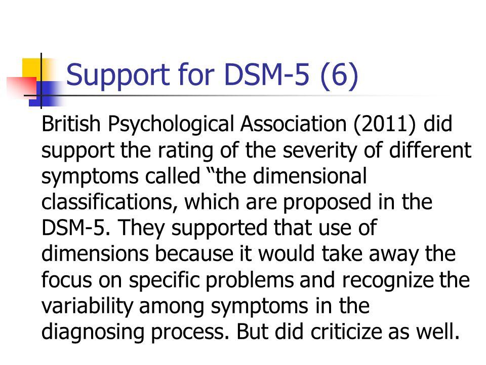 Support for DSM-5 (6)