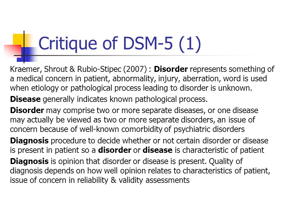 Critique of DSM-5 (1)