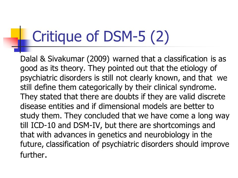 Critique of DSM-5 (2)
