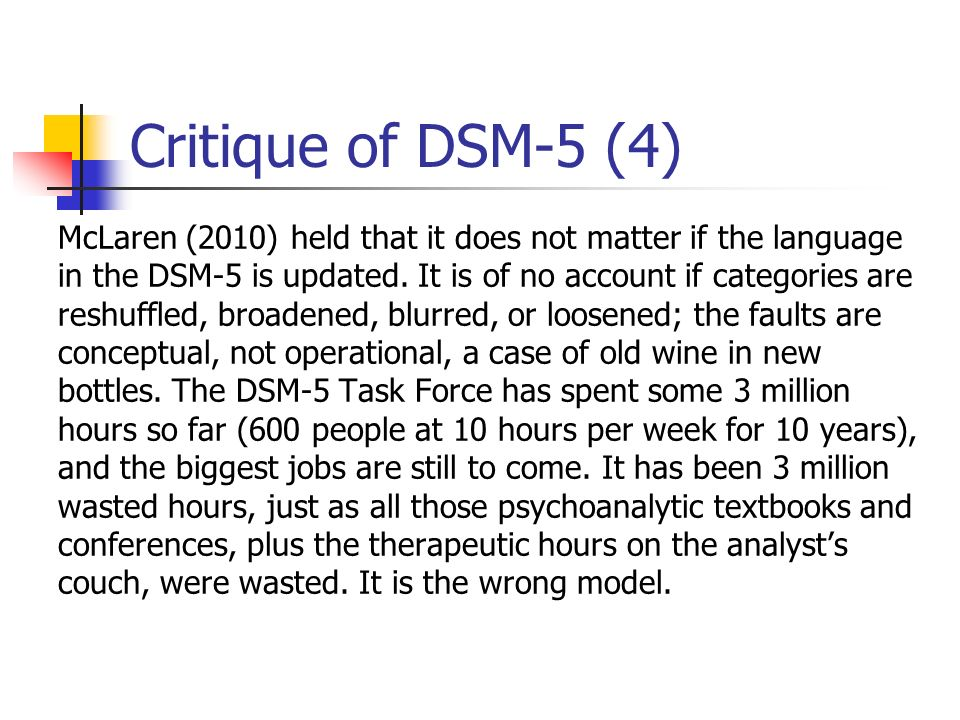 Critique of DSM-5 (4)
