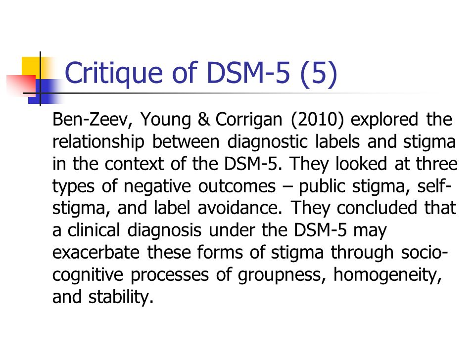 Critique of DSM-5 (5)